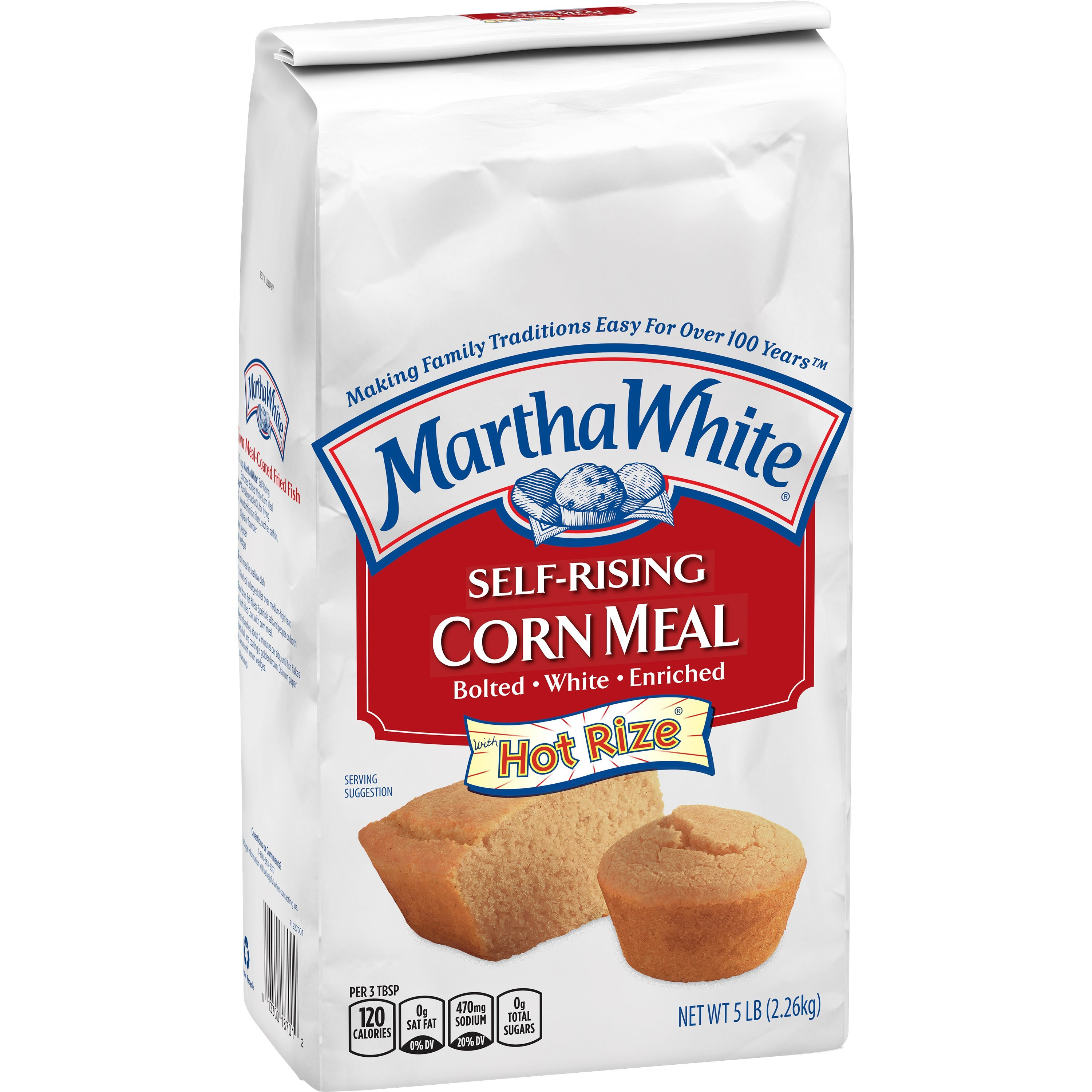 Martha White  Enriched Self-Rising White Bolted Corn Meal Mix