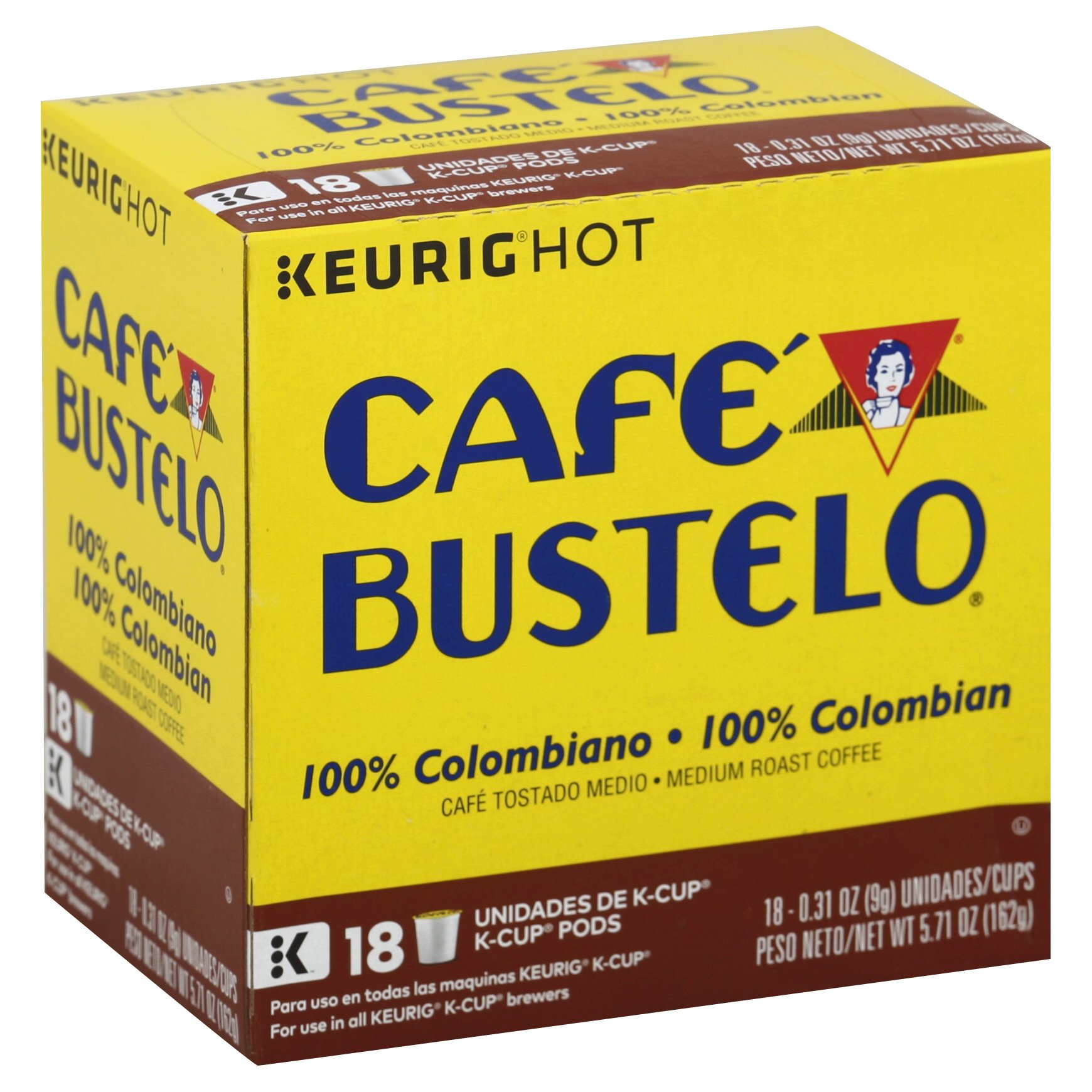 Cafe Bustelo  100% Colombian Coffee K-Cup® Pods, 18 Count