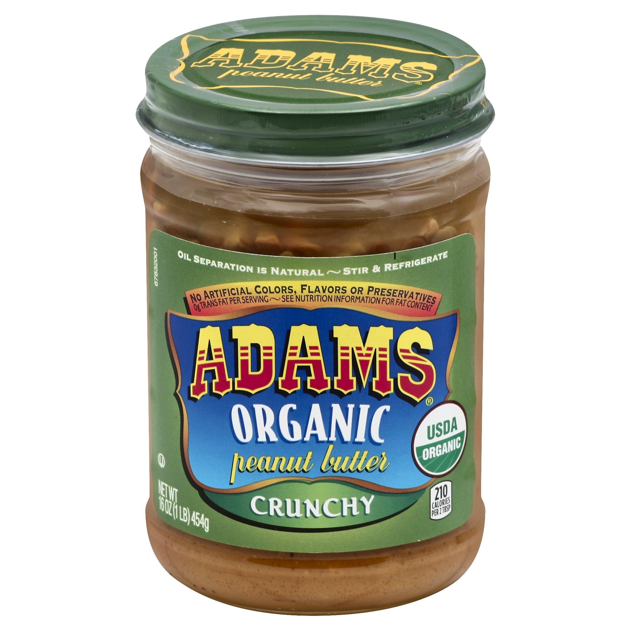 Adams  Organic Crunchy Peanut Butter